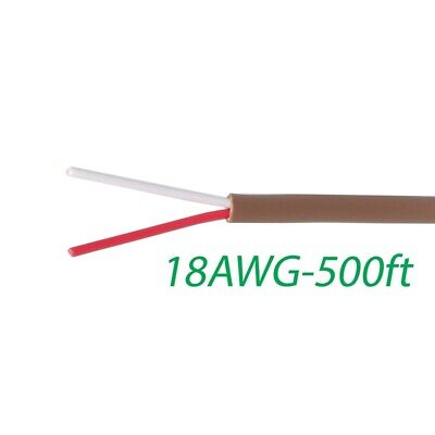 Logico 18-2 Thermostat Wire 18-gauge Copper Cmr Heating Ac Hvac Cable 500ft