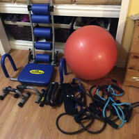 Assorted exercise accessories