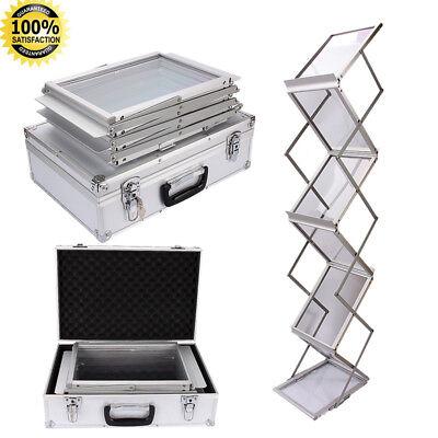 Infroständer Katalogständer Prospektständer A4 Faltbar mit Aluminiumkoffer GD