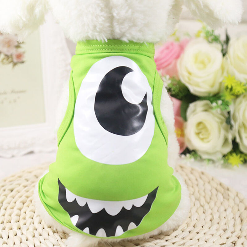 Cute Lovely Cartoon Pet Dog Clothing Jumpsuit Puppy Dress Dog Costume Apparel WG