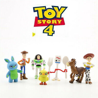 Toy Story 4 Woody Buzz Forky Lightyear Jessie 7 PCS Figure Set Cake Topper Gift - Woody Toy Story Jessie