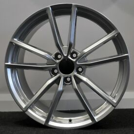 "19"" Pretoria Style Silver Alloy Wheels.Suit Audi A3,VW Caddy,Golf,Jetta, Passat,Seat Leon 5x112"