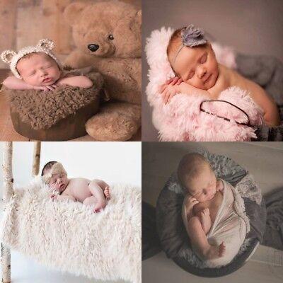 Newborn Unisex Baby Photo Props Newborn Photography Soft Faux Fur Quilt Blanket A Baby Newborn Quilt