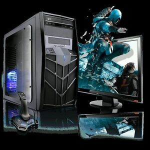 Brand new gaming pc built in Wifi glows blue.