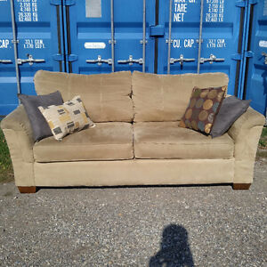 Beautiful Tan Suede Couch - $300 OBO