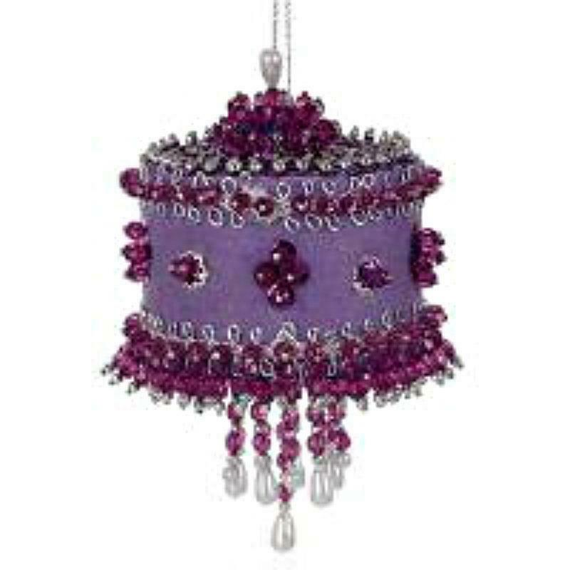 Sunrise Purple Twilight Reflection set of 3 Bead & Sequin Ornaments Kit - NEW