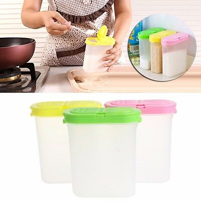 Spice Double Jars Rack Shaker Plastic For Seasoning Condiment Sugar Salt ()