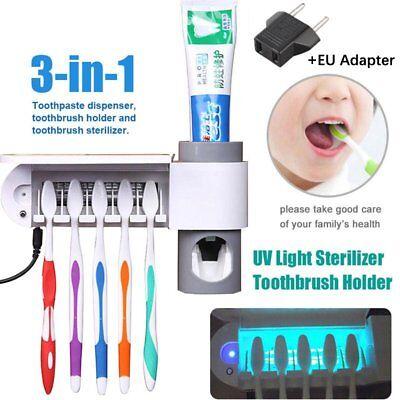Automatische Sterilisator (Sterilisator Zahnbürstenhalter Reiniger & automatische Zahnpasta-Spender T)