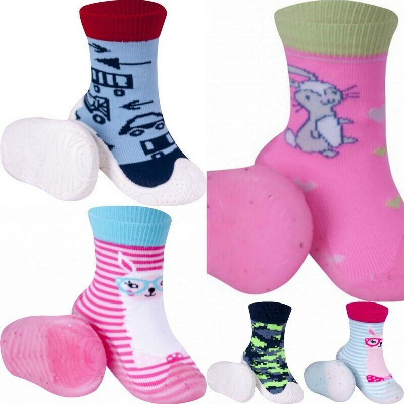 Baby Socken mit Gummisohle Krabbelschuh Hausschuh Hüttenschuhe Größe 20 21 22 23