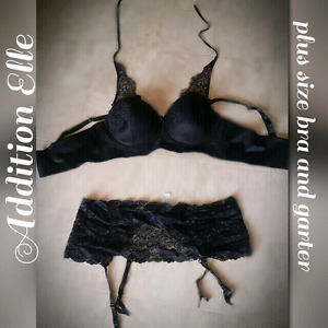 ♡ Plus size lace corset bra and garter ♡