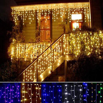 96 led hanging icicle snowing curtain lights outdoor fairy xmas 96 led hanging icicle snowing curtain lights outdoor fairy xmas string wedding aloadofball Image collections