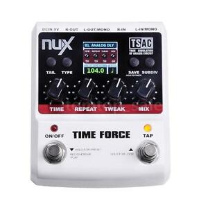 NUX TIME FORCE Gitarren-Effekt-Pedal Multi Digital Delay 11 Delay-Effekte ~ F4B8