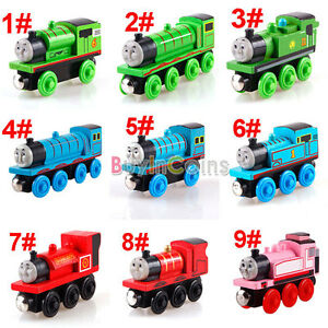 Wooden-Handcrafted-Child-Toys-Engine-Train-Thomas-His-Friends-Tank-Carriages