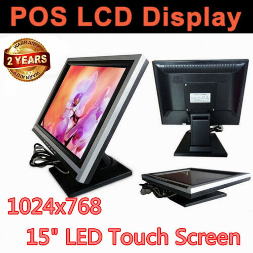 15 Inch Touch Screen LED Monitor 1024x768 Resolution VGA for POS Retail Kiosk