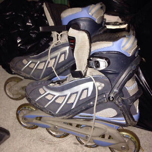 Two pairs size twelve mens roller blades