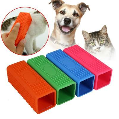 Silicone Washable Pet Dog Cat Hair Remover Clothes Carpet Lint Brush Cleaner Q