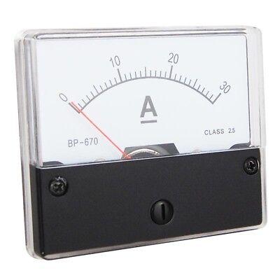 Einbau Messinstrument 0 - 30 A DC, Messgerät, Analog Amperemeter mit Shunt