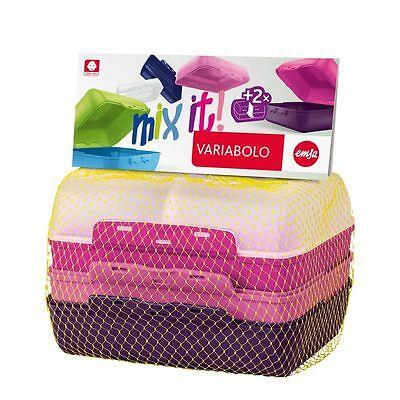 Emsa Variabolo Fiambrera Almuerzo 4tg + Separador Caja para el Girls
