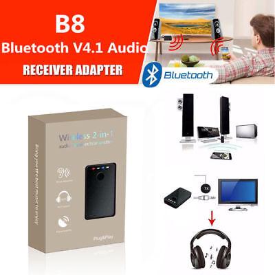 Adaptador Bluetooth Inalámbrico 2en1 Transmisor Receptor de Audio para TV/MP3/PC