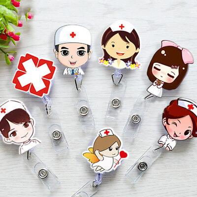 (Retractable Badge Holder Reel Nurse Exihibiton ID Name Card Clip School Supplie)