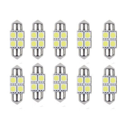 2x 5050 31mm 4SMD Car Interior Dome Festoon LED Light Bulbs Lamp White