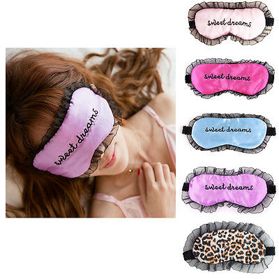 New Girl Eye Mask Tools Nylon Lace Embroidery Sleeping Care Blindfold Universal