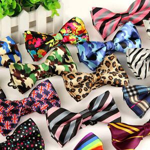 Classic-Fashion-Novelty-Mens-Adjustable-Tuxedo-Bowtie-Wedding-Bow-Tie-Necktie-G