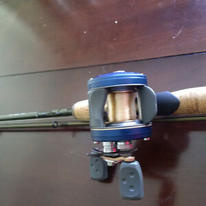 Baitcasting rod and reel combo