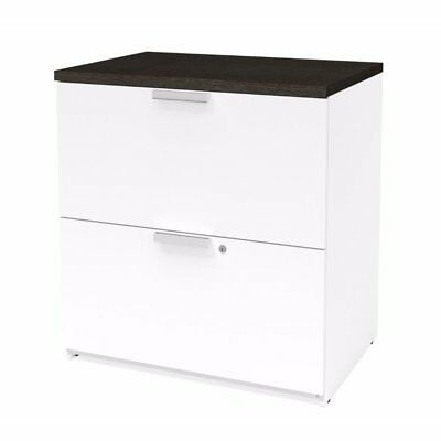 Bestar Pro Concept Plus Lateral File In White And Deep Gray