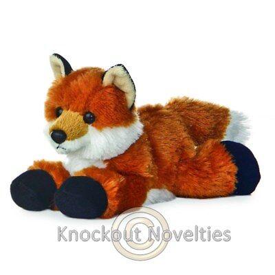 Foxxie The Fox Aurora Plush Stuffed Animal Toy Cute Cuddly Red Orange 8 Inches