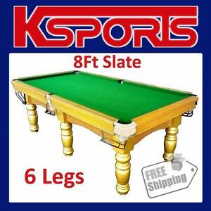 8FT SLATE POOL TABLE BILLIARD SNOOKER TABLE - PUB SIZE Somerton Hume Area Preview