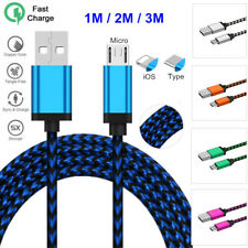 Micro USB/Type C/iOS Charging Data Sync Cable For iPhone Sumsung 2A Fast Charger