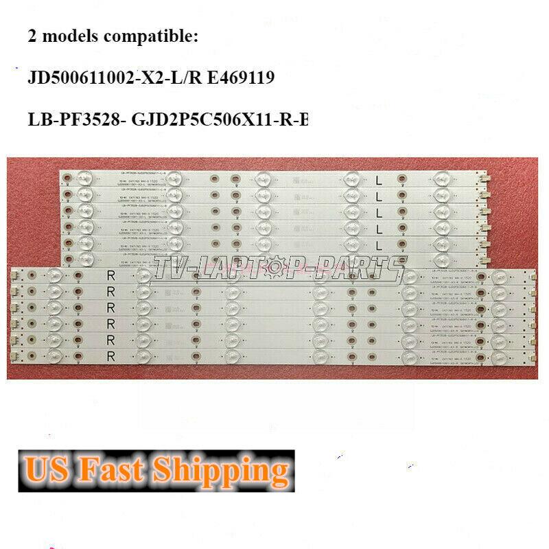 """LED Strips For Sharp 50"""" TV LC-50LB370U 500TT65 500TT66 LC-50LB261U LC-50LB371U"""
