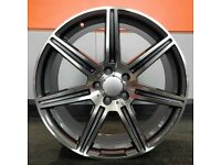"""19"""" AMC Style 7 Alloy Wheel and Tyre Package 5X112 Mercedes-Benz C-Class"""
