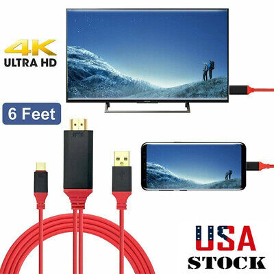 1.8m TV/HDTV Video Cable USB-C Type C Phone to HDMI For Sams