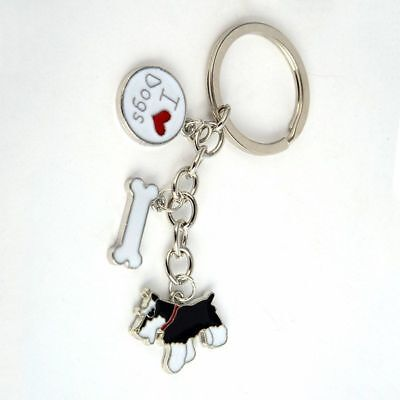 Schnauzer Keyring Gift for Dog Lovers Schnauzer Pendant Car Bag Accessories