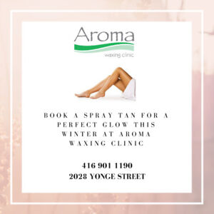 Get Your Perfect Glow With A Spray Tan At Aroma Waxing!