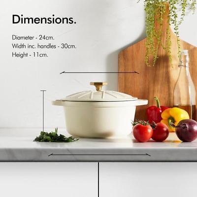 Large Cast Iron Casserole Dish Lid Induction Hob Oven Pan Pot Slow Cooking - Large Oval Casserole Pot