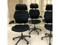 FREE SAME DAY DELIVERY - Humanscale Freedom Task Office Chair With Headrest
