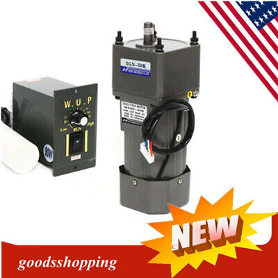 90w Ac Gear Motor Electric Motor Variable Speed Controller 150 27rpm