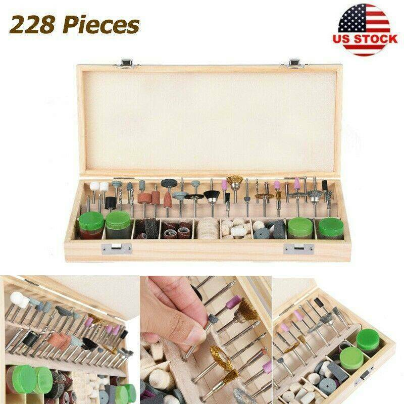 228Piece Dremel Rotary Tool Accessories Bits Kit Grinding Po