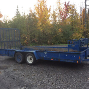 18ft Landscape Trailer with Power Gate.