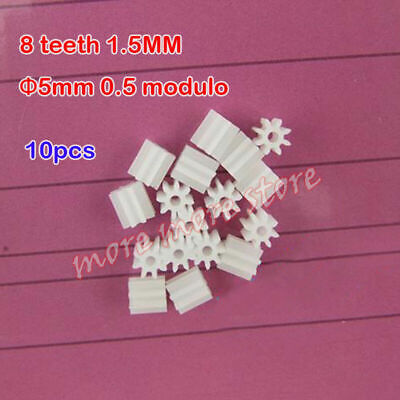 10X Spindle gear toy gears plastic 8 teeth 1.5MM Φ5mm 0.5M for motor drive shaft