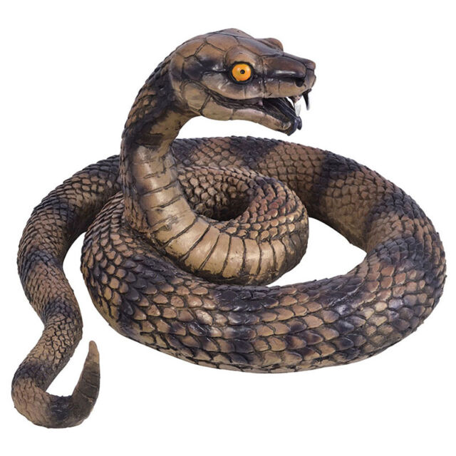 COILED SNAKE REPTILE TOY HALLOWEEN DECORATION PROP ANIMALS & NATURE FANCY DRESS