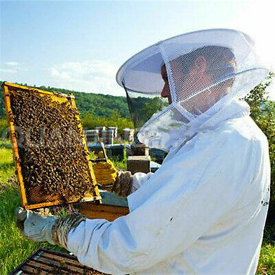 Beekeeping Protective Jacket Beekeeper Keeping Hat Veil Sleeve Smock Equipment