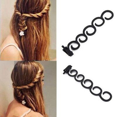 2x French Hair Accessory Braiding Tool Hook Twist Styling Roller Bun Maker