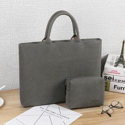 Laptop Bag Handle Case Faux Suede 13