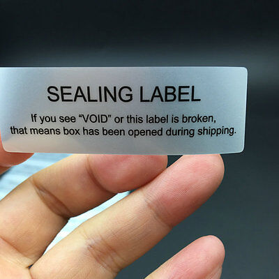 100pcs Security Seal Tamper Proof Void Security Warranty Stickers 2.36 X 0.79