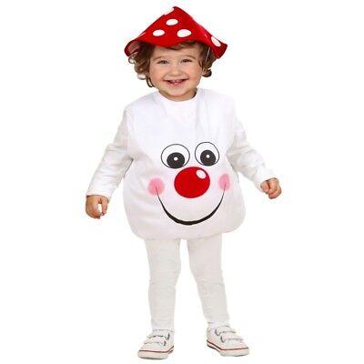 Fliegenpilz lustiger Pilz Kleinkinder Kostüm Gr. 90-104 cm Kinder Karneval #901M