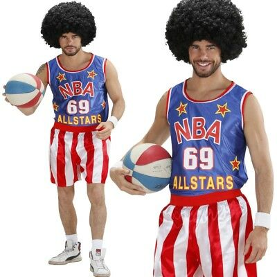 BASKETBALL SPIELER Allstar Sportler Herren Kostüm Fasching Karneval S, M, L, XL